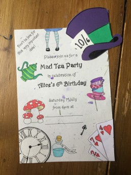 Alice tea party invite finished