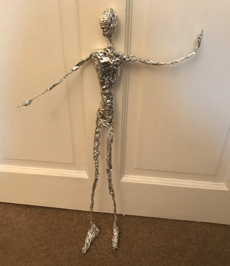 foil covered figure