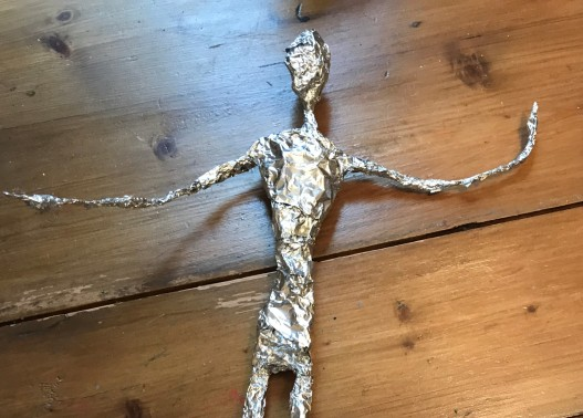 foil covered torso