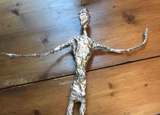 foil covered torso