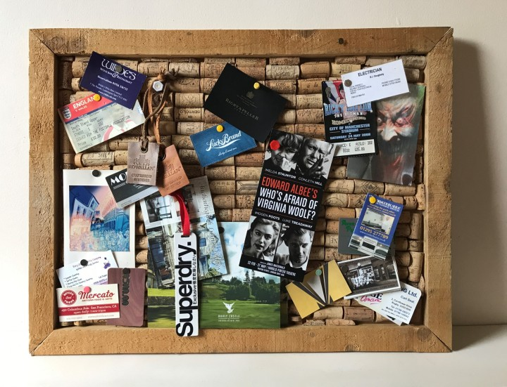 Completed cork board