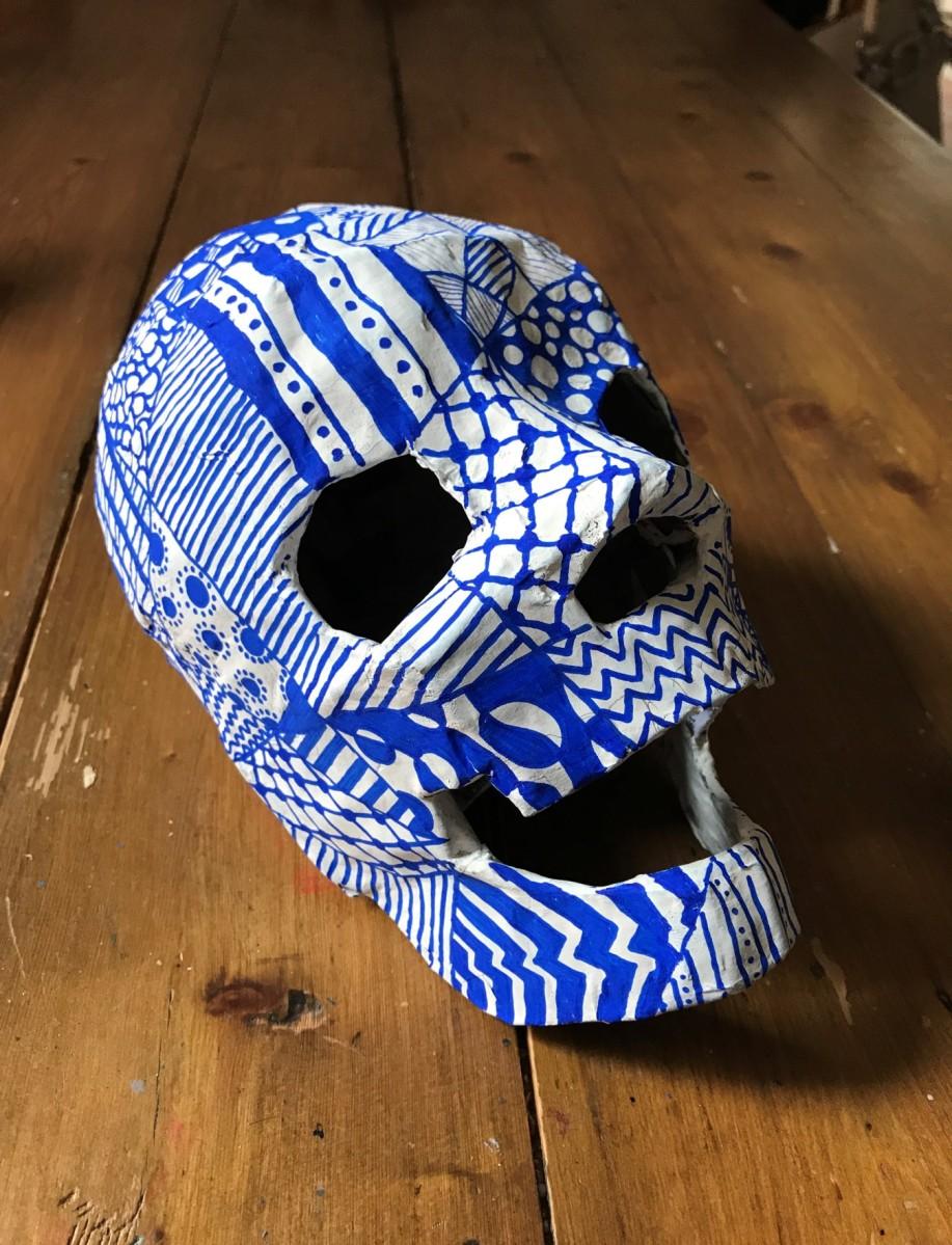 Make a Paper Mache Skull