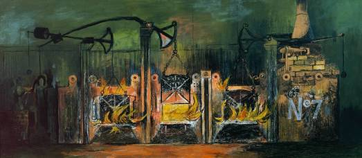 Furnaces 1944 Graham Sutherland OM 1903-1980 Presented by the War Artists Advisory Committee 1946 http://www.tate.org.uk/art/work/N05743