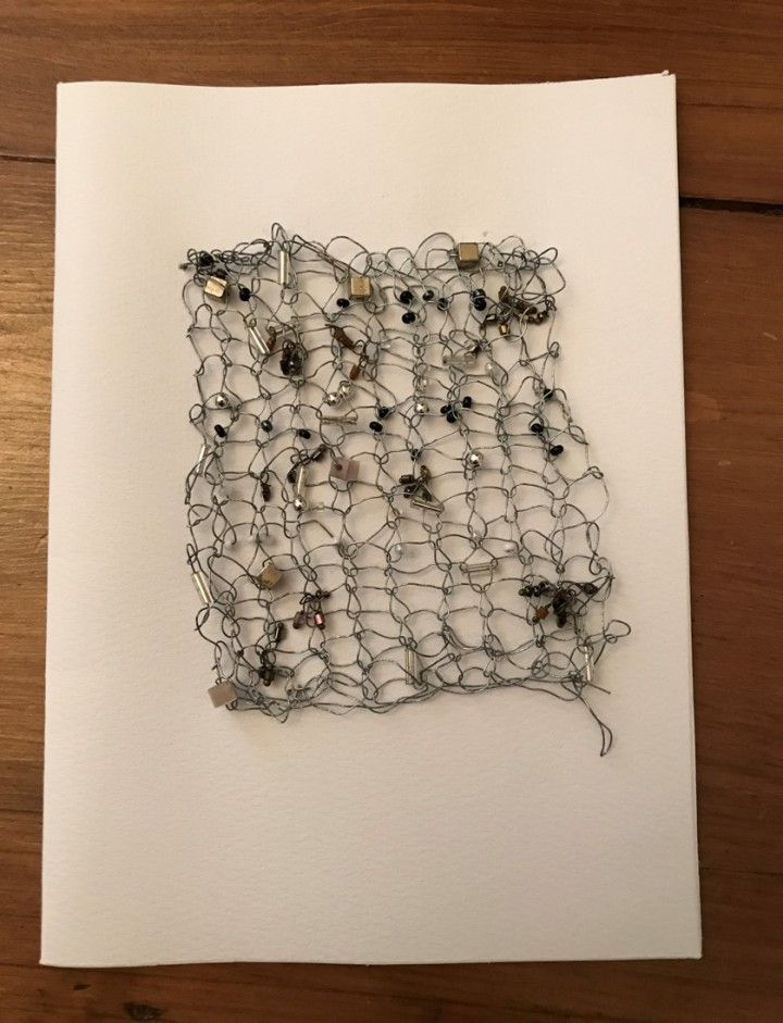 knitted wire card