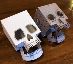 paper skulls