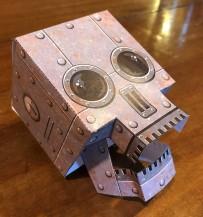 steam punk paper skull complete