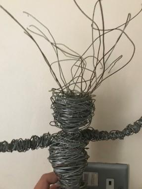 wire man head