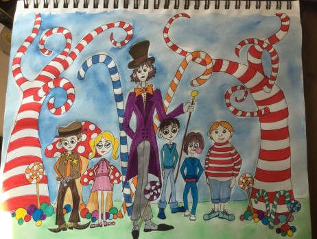 Charlie and the Chocolate Factory Illustration