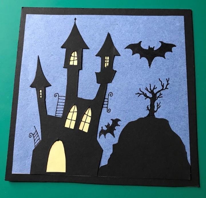 Halloween Card spooky house