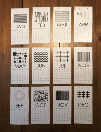 Black and White Calendar Template