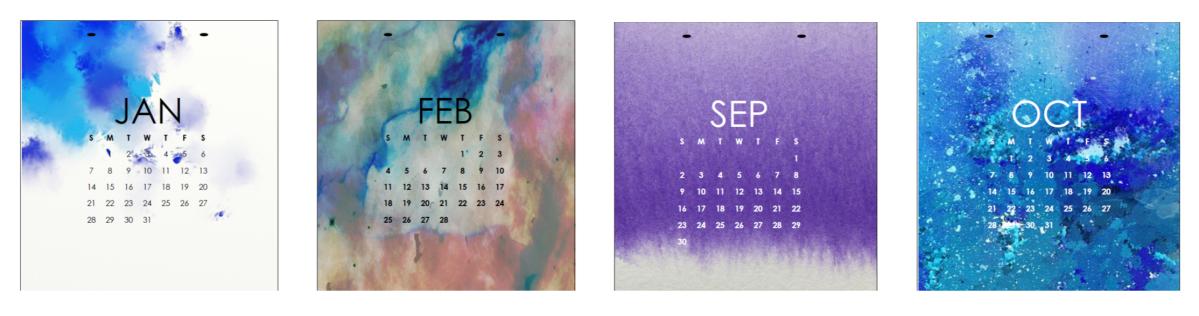 More 2018 Calendar Printables