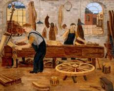 Laidler, Fred; The Cartwrights; Woodhorn Museum & Northumberland Archives; http://www.artuk.org/artworks/the-cartwrights-56349
