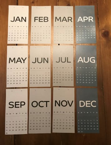 Shades of Grey Calendar Template