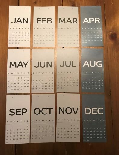 Shades of Grey Calendar Template