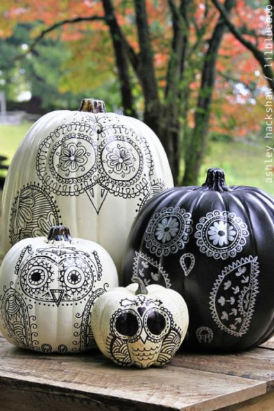 Sharpie Pumpkins