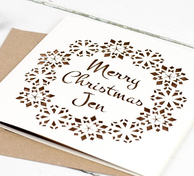 Paper Cut Christmas card2