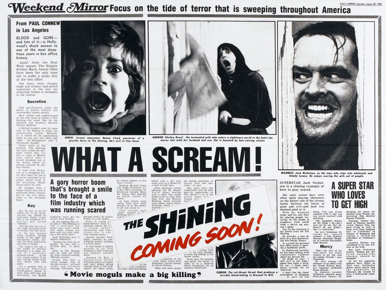 The Shining Movie Review Sheet