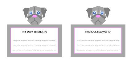Dog Bookplates v2