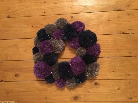 Pom Pom Wreath8