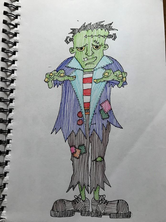 Frankenstein Halloween Doodle