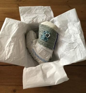 emboidered heart gift