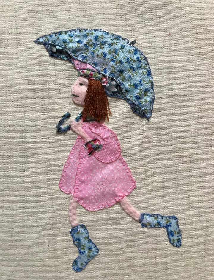 finished umbrella applique