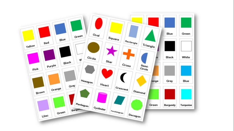 Flash cards feature
