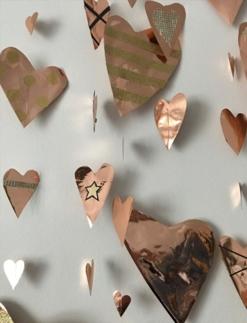 Hearts close up