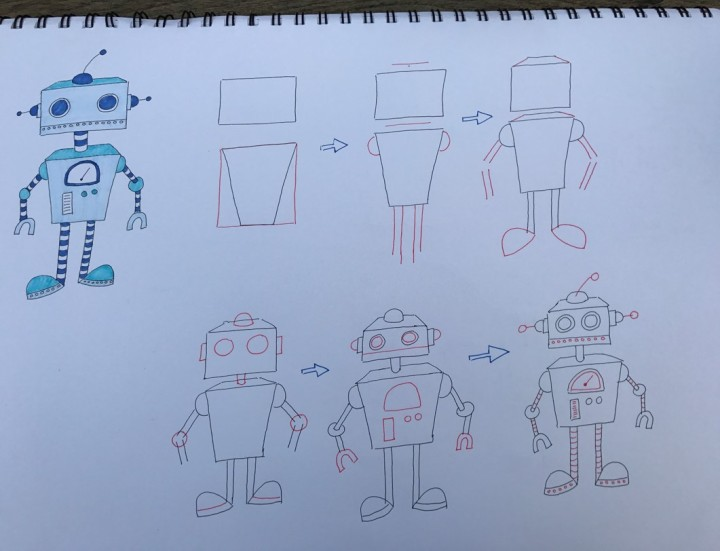 How to draw a robot 2