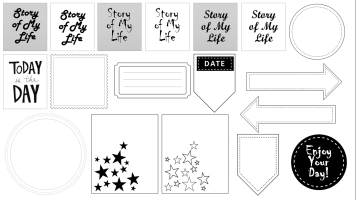 Scrapbook Printable sheet 1