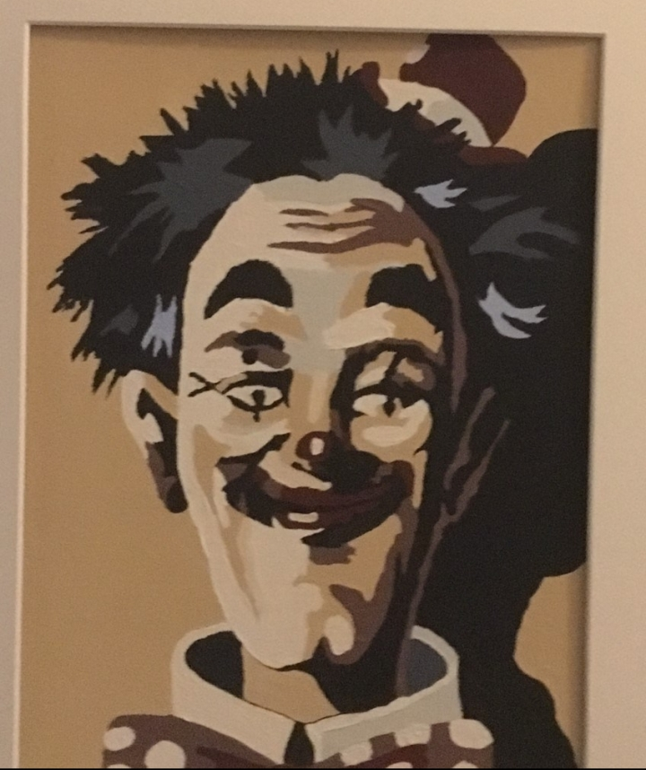 Stan Laurel Clown Picture