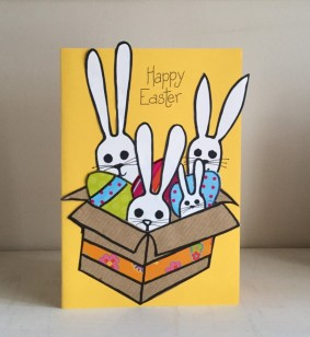 Bunnies in a box card