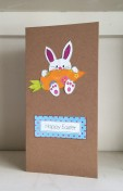 Bunny and carrot Easter card