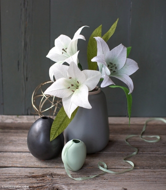 Crepe paper lillies