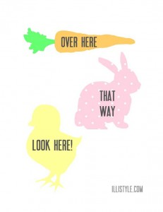 Easter Hunt signs
