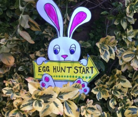 Egg Hunt sign 1