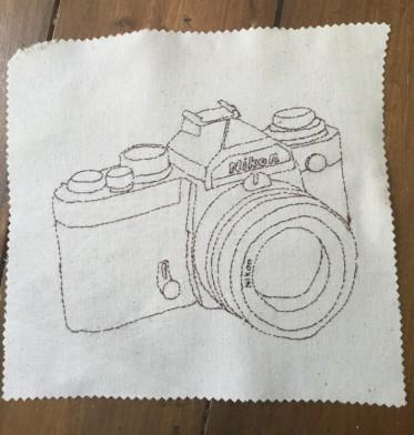 back stitch as a drawing medium