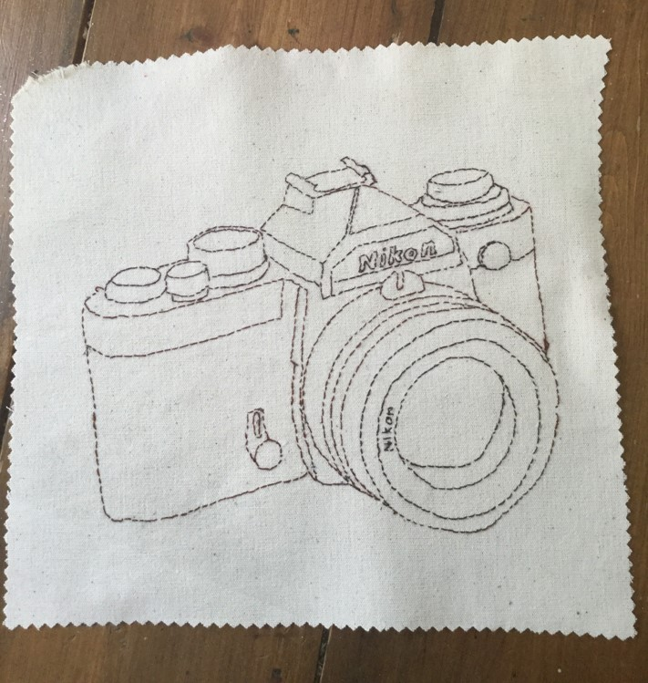 back stitch as a drawing medium