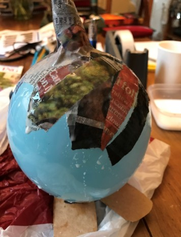 Starting to add the Papier Mache