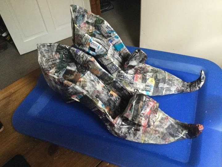 paper mache shoes