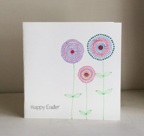 Simple doodle easter card