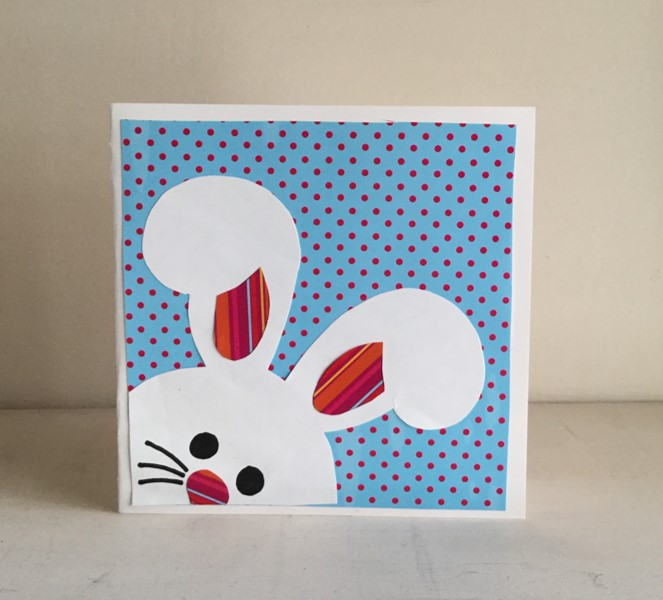 Square Bunny card