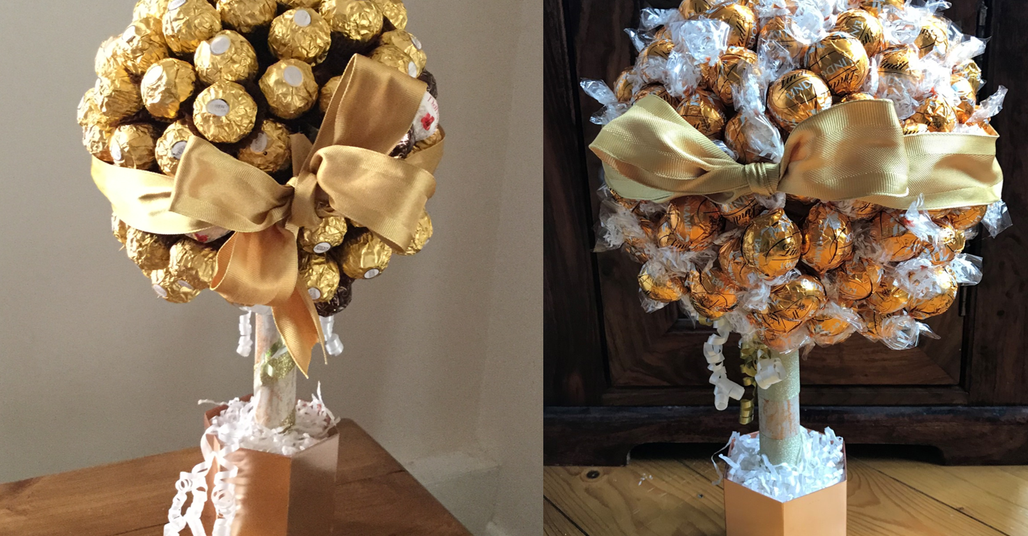Ferrero Rocher and Lindt Sweet Trees