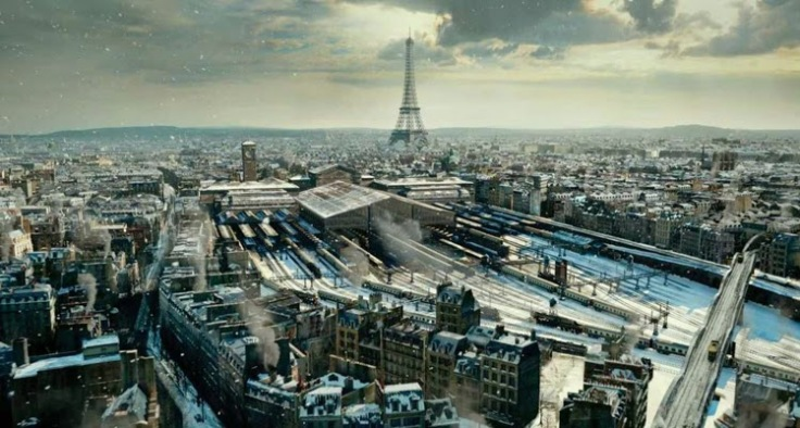 Hugo- Ariel shot of Paris Station