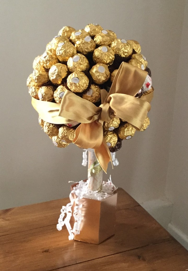 Finished Ferrero Rocher Tree