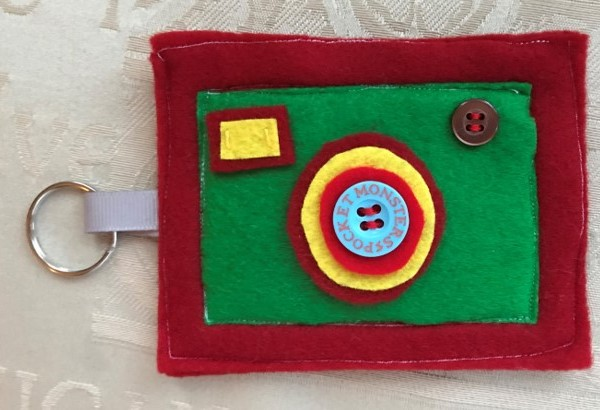 Child sewing craft project