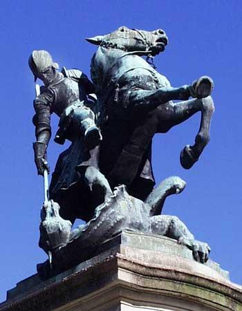 St. George Statue Northumberland