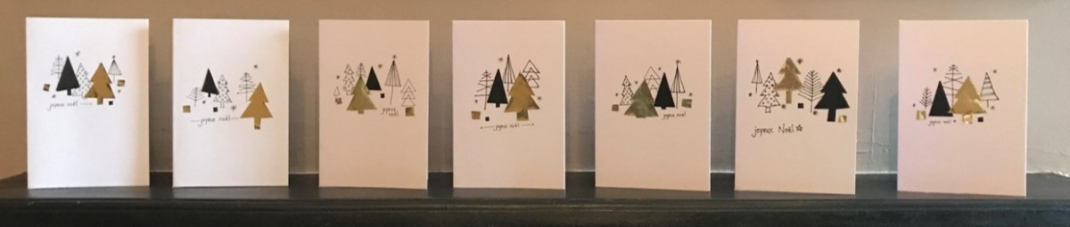 Contemporary Christmas Card Design