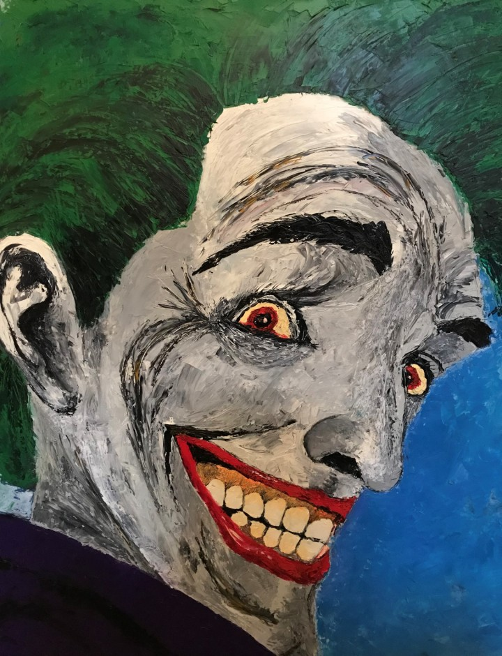 Original Joker Painting based on Killing Joke
