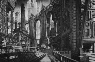 Anton Furst's Concept Art for Batman
